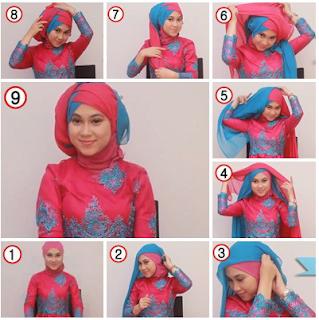 Contoh Model Hijab Pengantin kedua