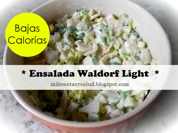 Receta de ensalada waldorf original