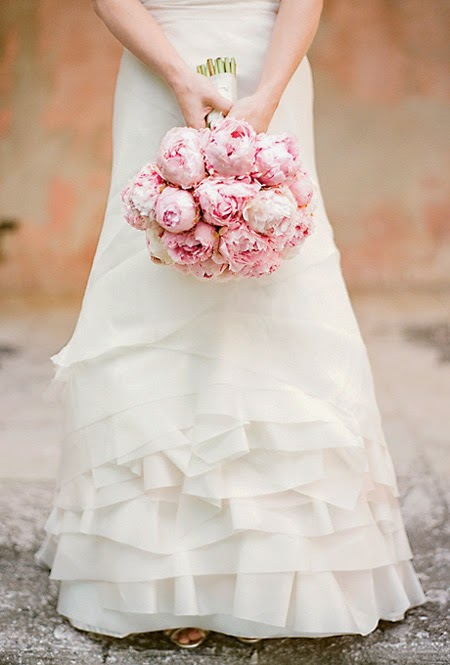 Breathtaking Peony Wedding Bouquets