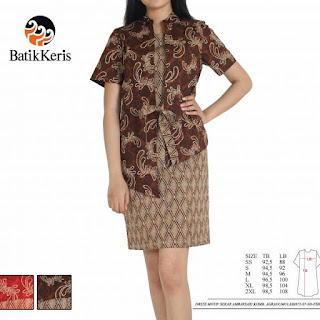 model sackdress batik wanita gemuk
