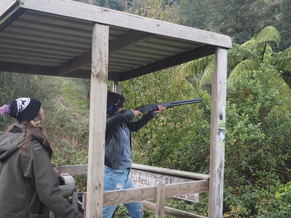 clay pigeon shooting, new zealand