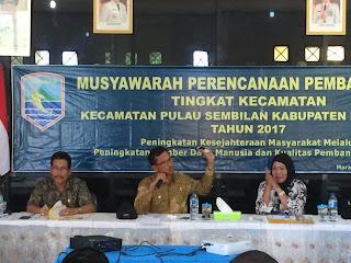 Burhanudin Hadiri Musrenbang Pulausembilan