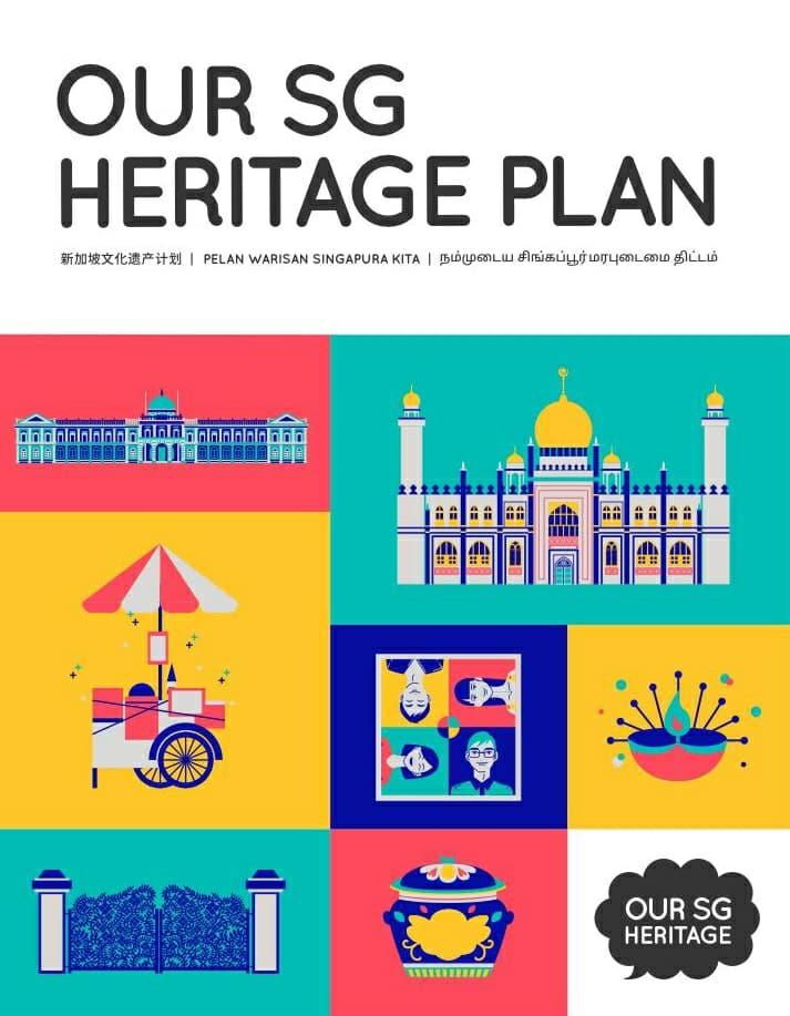 Our Sg Heritage Multi Coloured Identity Branding Singapore