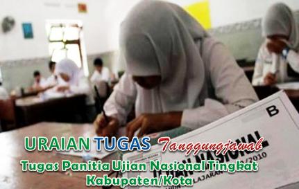 Tugas Panitia Ujian Nasional Tingkat Kabupaten/Kota