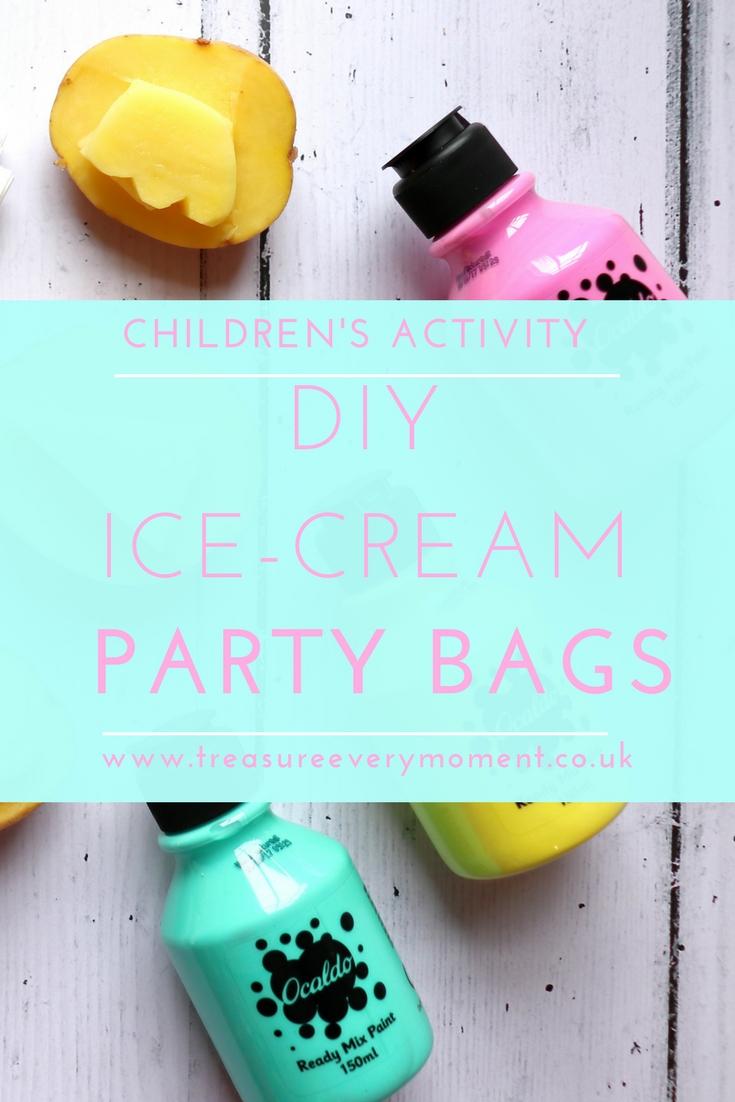 CRAFT ACTIVITY: Ice Cream DIY Party Bags