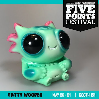 Five Points Festival Exclusive Fatty Wooper Looper Mint Edition Vinyl Figure by Gary Ham x Chris Ryniak