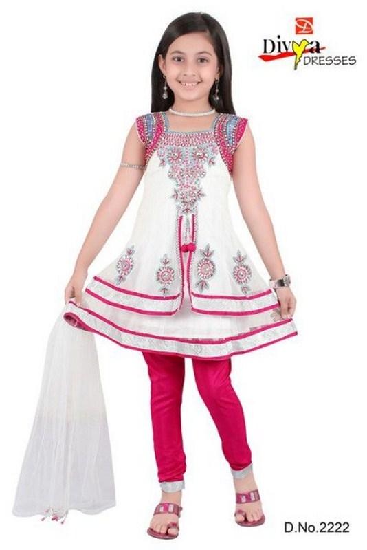 Dfgd Beautiful Kids Anarkali Frocks Collection 2012 13
