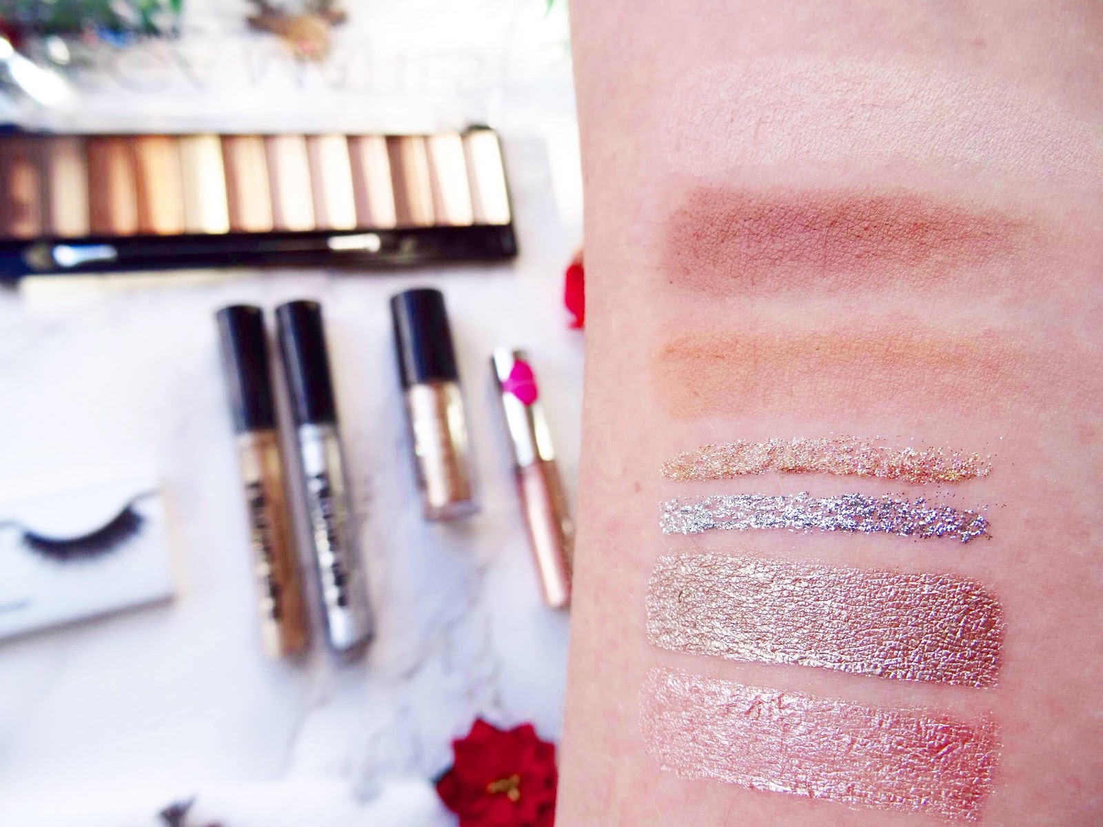 Making Your Eyes The Star Of Christmas Swatches