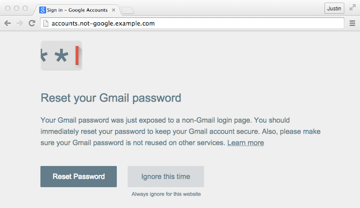 Password Alert Chrome Extension to Protect your Google Account from Phishers