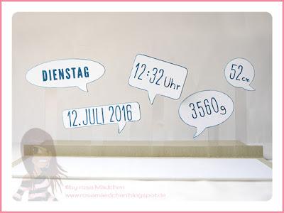 Stampin' Up! rosa Mädchen Kulmbach: Babykarte mit Sternenkonfetti, Zum Nachwuchs, Beeindruckende Buchstaben, Tag für Tag, Sprechblasen und Kreisstanzen