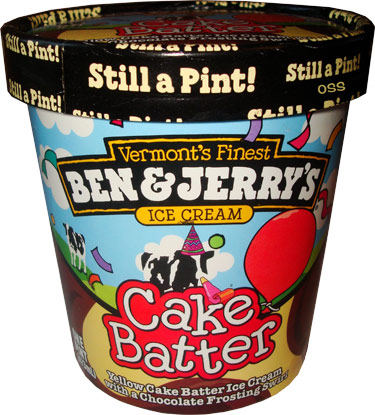 Ben Jerrys Cake Batter Consists Of Just Yellow Ice Cream And A Chocolate Frosting Swirl Making This One More Simplistic