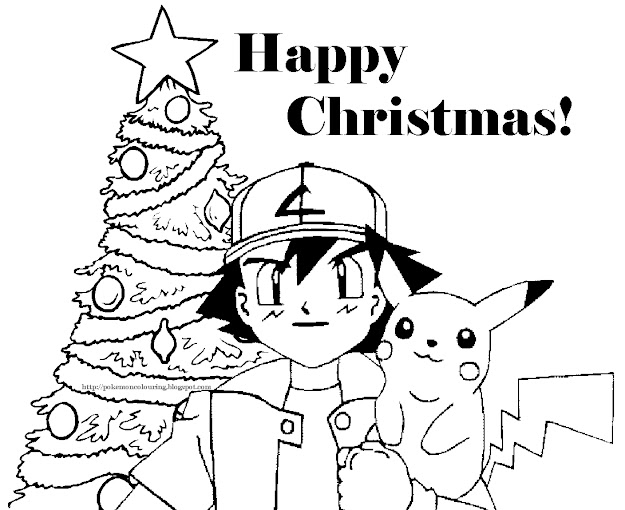 Christmas Coloring Pages  Pokemon Christmas Coloring Pictures Free To Print