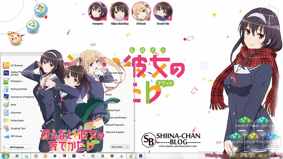 WIndows 7 Theme Saenai Heroine no Sodatekata by Shiina-chan Blog 1