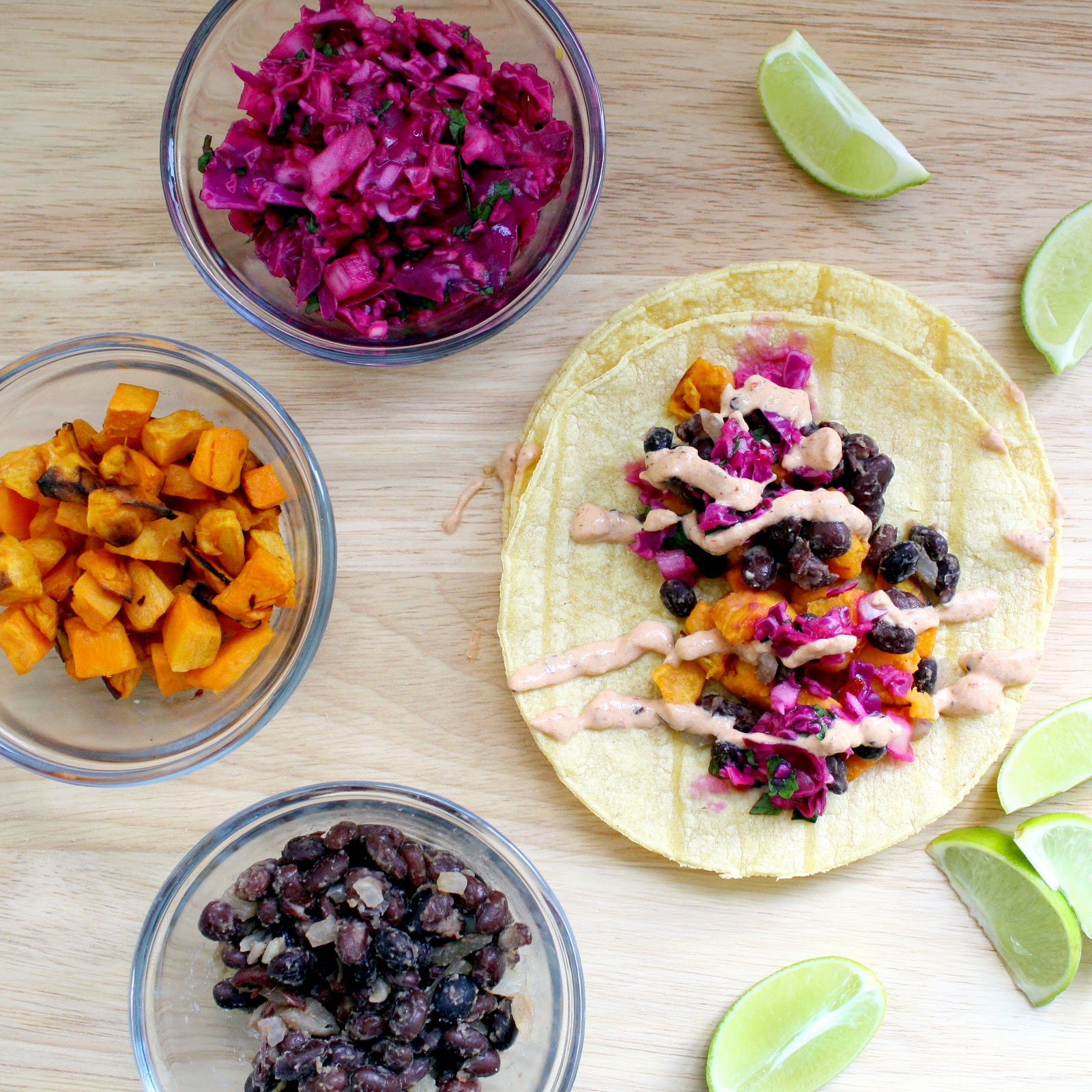 A Bitchin' Kitchen: Black Bean and Sweet Potato Tacos with ...