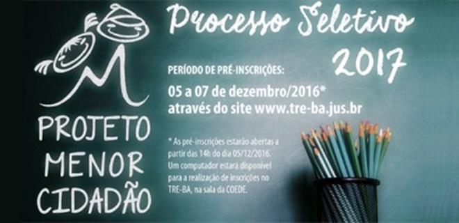 TRE-BA abre vagas para estágio de nível médio através do 'Projeto Menor Cidadão'