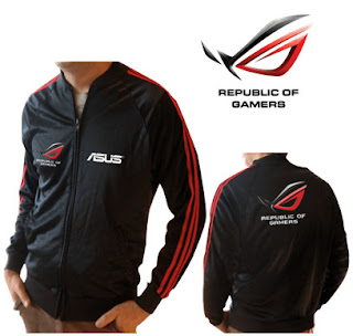Jacket Gaming Jaket ROG strip Republic Of Gamers