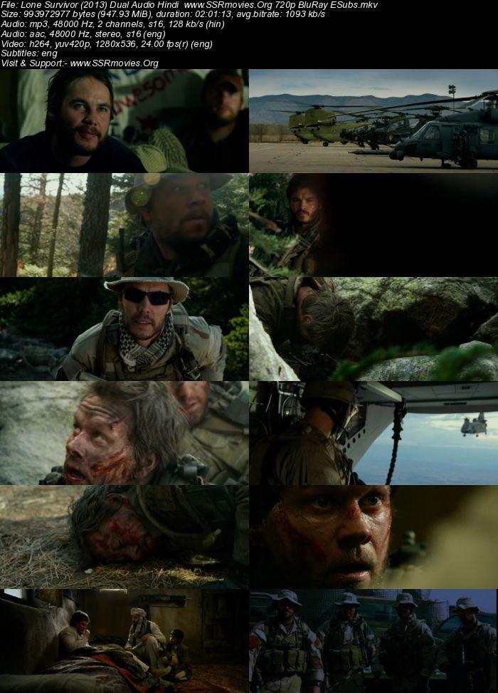 Lone Survivor (2013) Dual Audio Hindi 480p BluRay 400MB