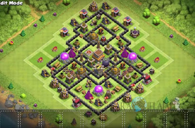 Base Hybrid TH 8 Clash Of Clans Terbaru Tipe 12