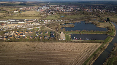 Brigg Marina and holiday lodges viewed from the air - February 2019 - by Neil Stapleton
