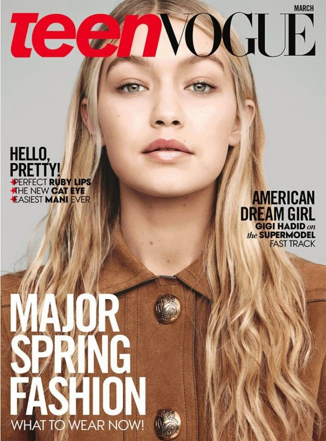 Gigi Hadid and Binx Walton cover Teen Vogue March 2015