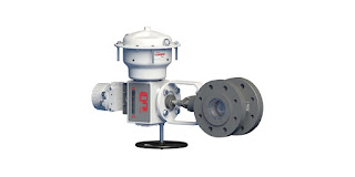 rotary eccentric plug industrial control valve with actuator