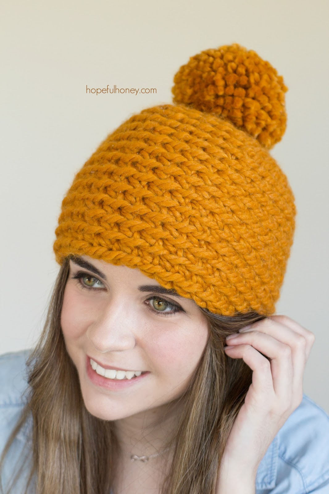 Crochet Pattern Hat Beanie : Hopeful Honey Craft, Crochet, Create: Toffee Apple ...