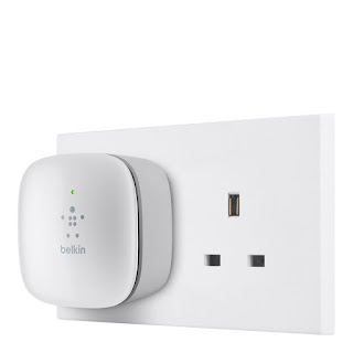 TODAY DEALS £14.99 Belkin N300 Wall Plug Mounted Universal Wi-Fi Range Extender