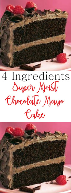 4 Ingredients Super Moist Chocolate Mayo Cake