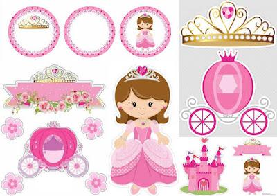 DOĞUM GÜNÜ, Prenses Temalı Parti Malzemeleri, Prenses Temalı Ücretsiz Parti Seti, KIZ, Pasta Süsü, Taç Temalı Parti Seti, Ücretsiz Pasta Şablonları,