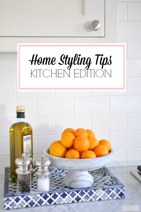 Home Styling Tips | The Kitchen Edition - tips for keeping your kitchen looking beautiful while balancing the need to keep certain things out- a pretty and practical guide!