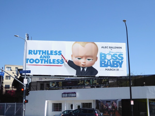 Ruthless toothless Boss Baby billboard