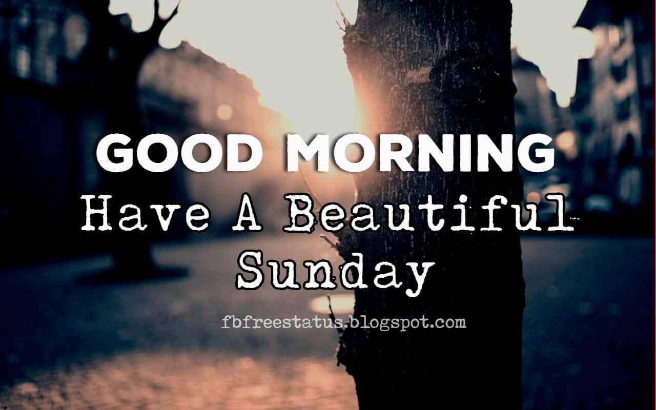 Good Morning, Have a Beautiful Sunday Morning.