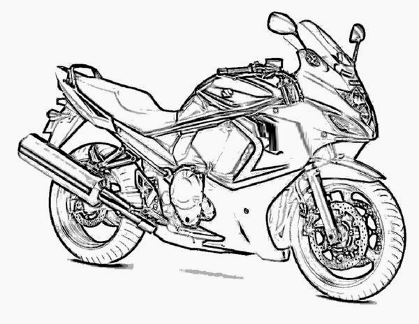 Coloring Pages: Motorcycle Coloring Pages Free and Printable