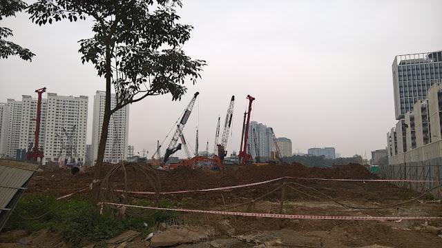 Công trường xây dựng chung cư An Bình City