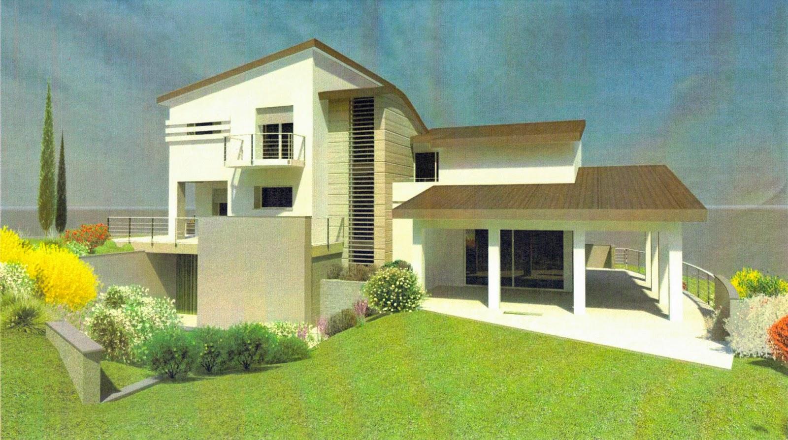 Casa delle ginestre prove di rendering per i colori esterni for Stili di case esterni