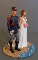 cake topper matrimonio statuine sposini statuette divisa storica polizia di stato orme magiche