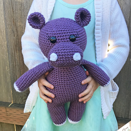 Amigurumi Hippopotamus - Free Crochet Pattern