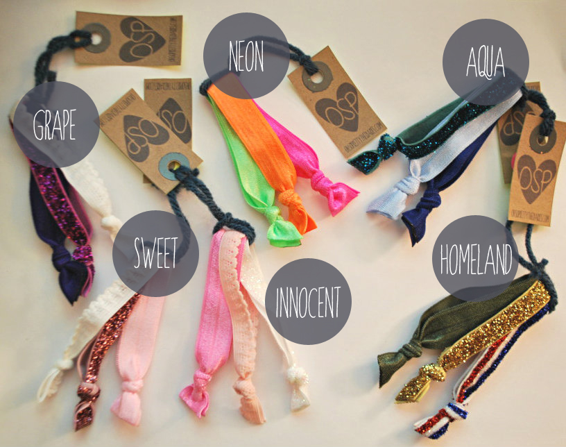 We now have these hair ties for sale in OUR SHOP. You can buy a set of  three for  5- in many different fun colors and textures. ee32f30985a