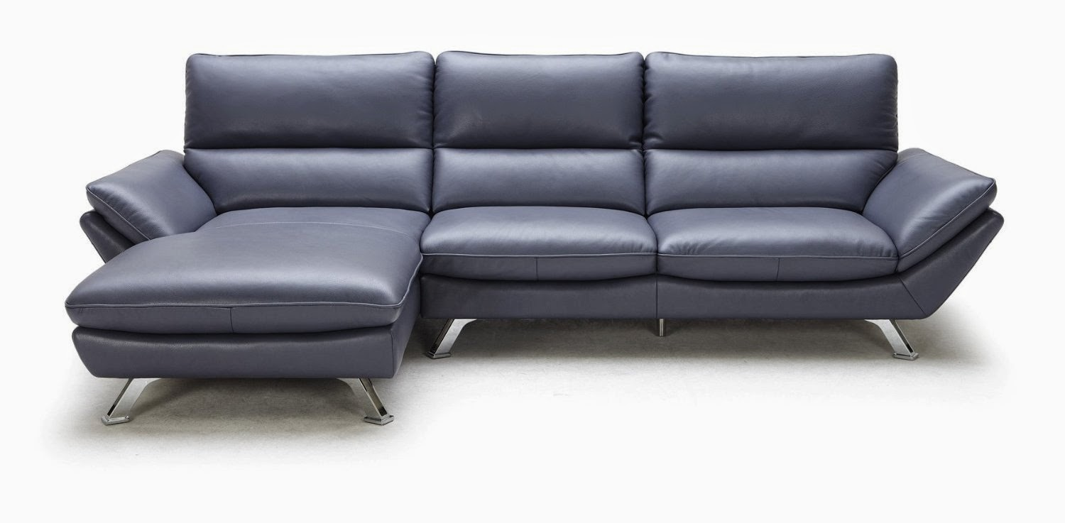Leather Dark Blue Couch