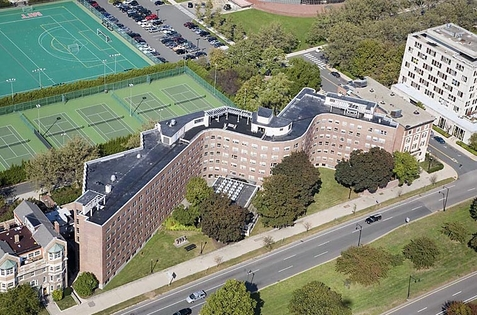 Baker House dormitories (aerial)