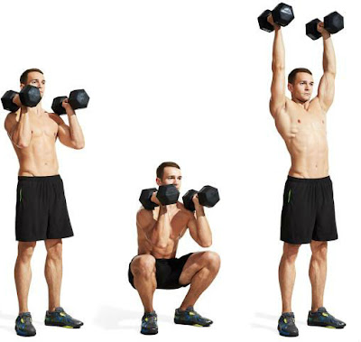 squat to press,workouts for loss fat,strength traning