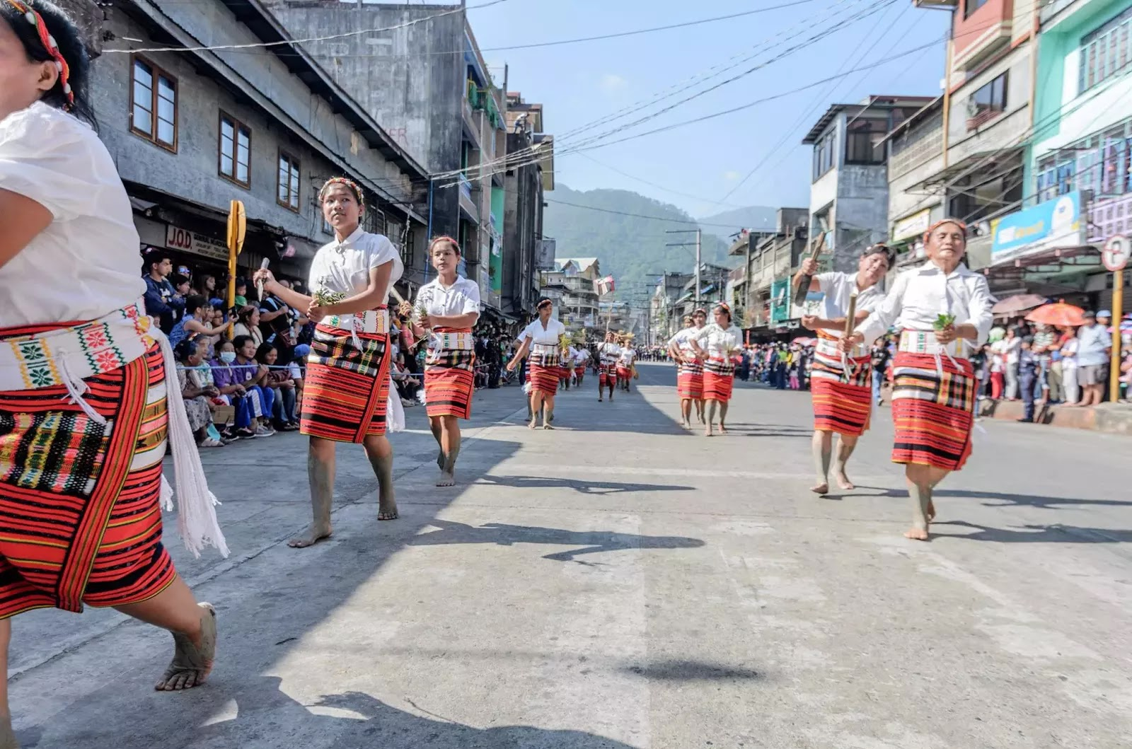 Bontoc Mountain Province 13th lang-Ay Festival Street Dancing in the Streets.