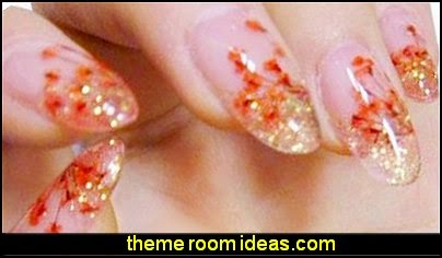 dried flowers nail decorations-dried flowers nail decals