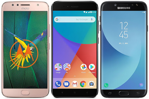 Motorola Moto G5s Plus vs Xiaomi Mi A1 32G vs Samsung Galaxy J7 (2017)