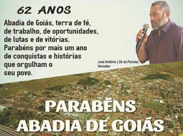 Abadia de Goiás 62 anos de crescimento