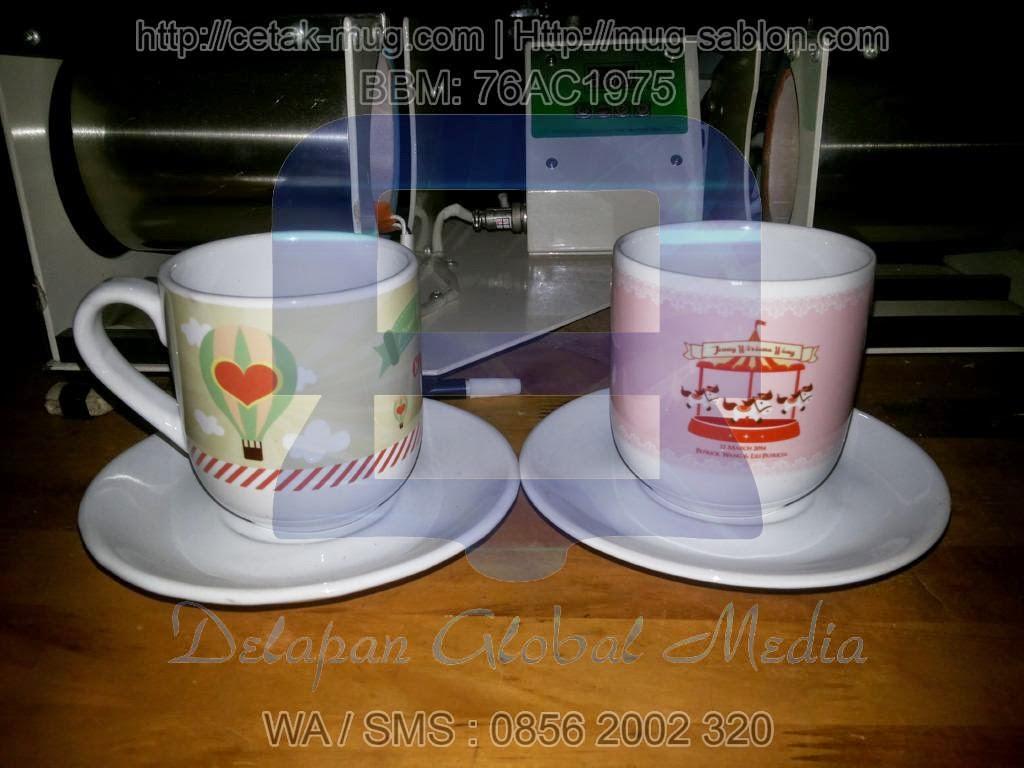 Souvenir Cetak Mug Capsul Sablon Promosi