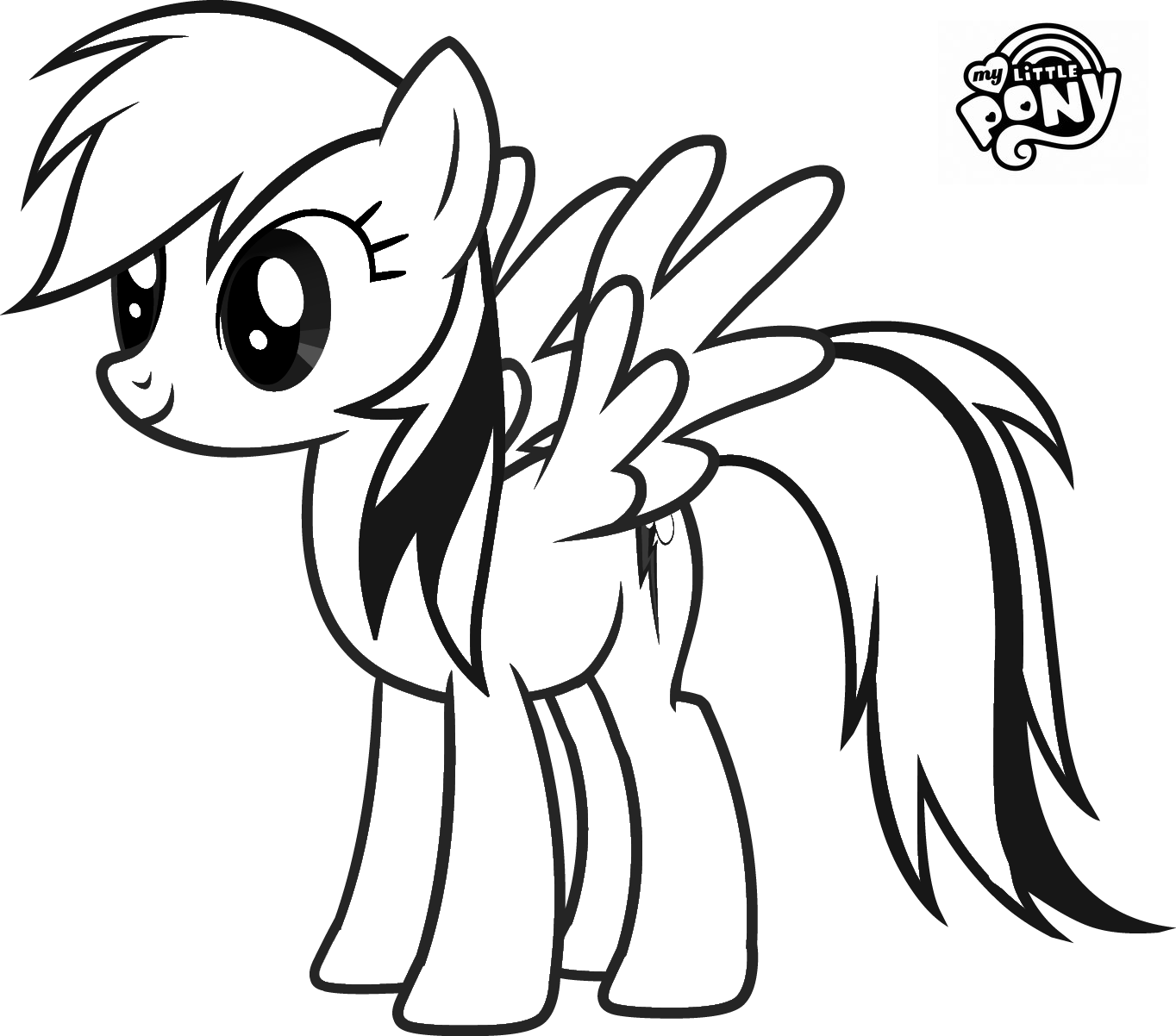 My Little Pony Rainbow Dash Coloring Pages
