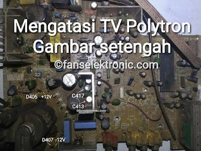 Tv Polytron Gambar Setengah Cara Mudah Servis