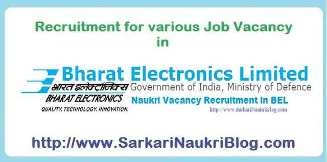 Naukri Vacancy BEL