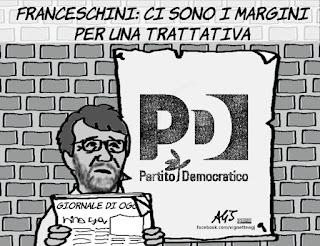 franceschini, pd, scissione, minoranza pd, vignetta, satira
